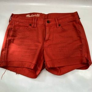 Madewell shorts orange